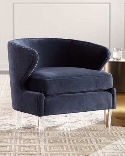 Hbgsc Danner Modern Accent Chair With Acrylic Legs Deco