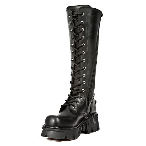 New Rock Boots Tall Laced Boot M.235-S1 (Black)