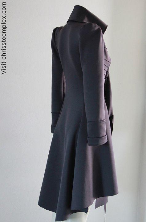 Steampunk équitation veste Goth Long manteau Chrisst veste manteau Trench - nouveau prix