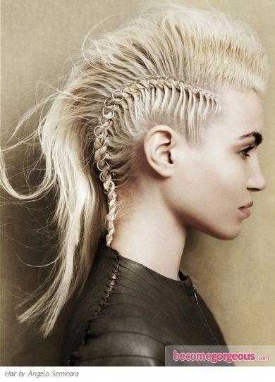 Peinados Trenzados Caucasicos Braidedhairstyles Braidedhairstyles Caucasicos Peinados Trenzados Mohawk Hairstyles Rock Hairstyles Braids For Short Hair
