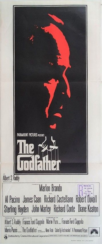 The Godfather Australian Daybill Poster The Godfather Movie Posters Vintage Movie Posters