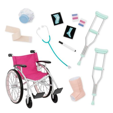 Superb Our Generation Care Set with Foldable Wheelchair Now at Smyths Toys UK. Shop for Our Generation Accessories At Great Prices. Free Home Delivery for orders over Doll Wheelchair, Our Generation Doll Accessories, Our Generation Doll Clothes, Girl Dolls, Baby Dolls, Poupées Our Generation, Baby Annabell, American Girl Doll Sets, American Girl Crafts