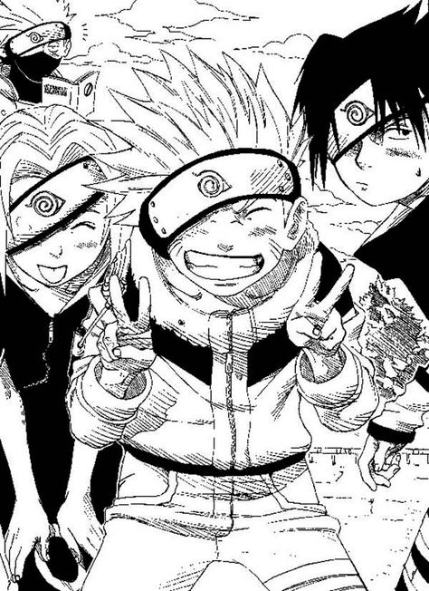 Funny Naruto Manga Coloring Page - Download & Print Online Coloring Pages for Free   Color Nimbus