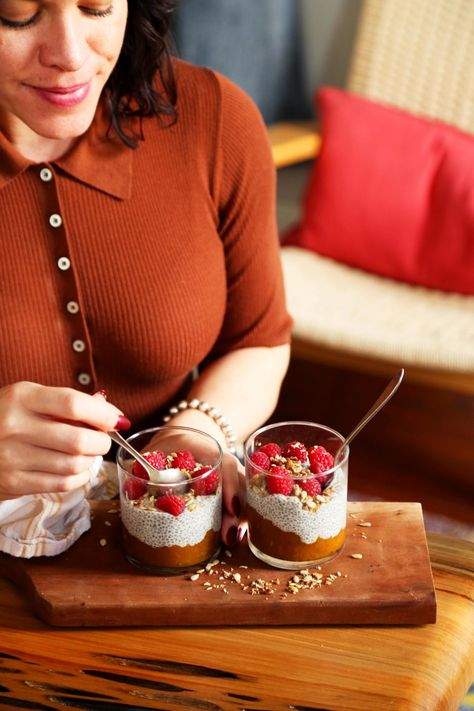 Spiced Pumpkin and Chia Seed Breakfast Pudding  //  joy the baker