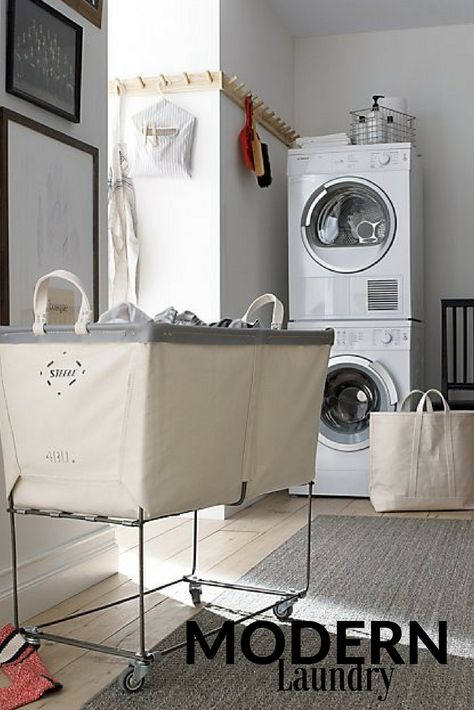 White Laundry Room Loving The Laundry Basket Laundry Modern