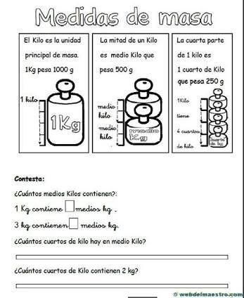 Resultado De Imagen Para Actividades Para Trabajar Peso Y Capacidades En Primer Ciclo Practicas De Matematicas Fichas De Matematicas Primaria Matematicas