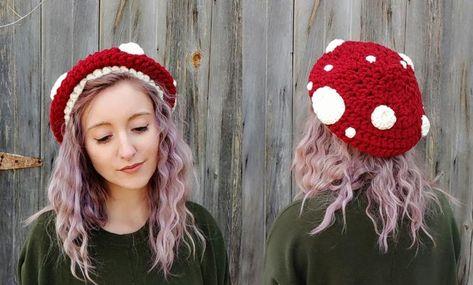 Crochet hats 562105597244835894 - Source by hosenstall Mushroom Hat, Crochet Mushroom, Mushroom Costume, Crochet Gifts, Cute Crochet, Knit Crochet, Things To Crochet, Crochet Motif, Chunky Crochet Hat