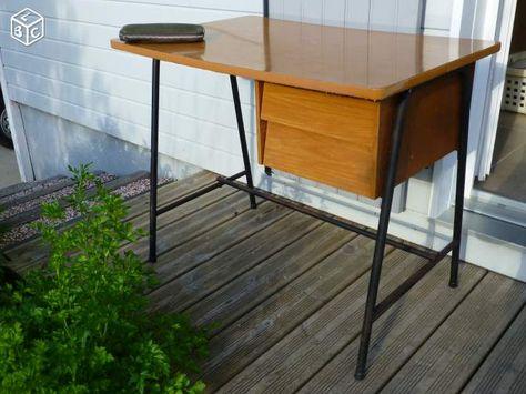 Bureau bois et métal crea meubles en bois