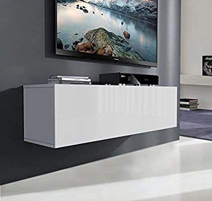 Muebles Bonitos Mueble Tv Modelo Luke 100 Cm Blanco Brillo Entero Muebles Para Tv Muebles Bonitos Muebles