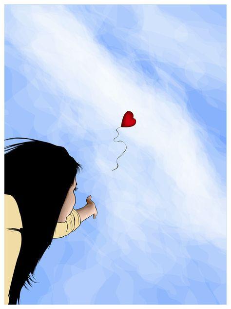 Girl & heart