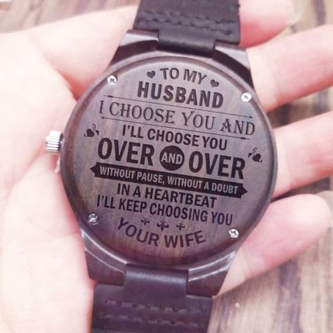 ★ Description: ★  Engraved wooden watch for men and women, anniversary gift for boyfriend and my man, my son, my wife , my husband, my love, or a gift for groomsmen, etc. This personalized wood watch would even make an amazing birthday gift for him #giftforhusband #engravedwoodenwatch #personalizedengravedwatch #woodenwatch  #bestgift #perfectgift  #memorablegift #personalizedgift#Birthdaygift #graduationgift #anniversarygift #watchformen #watchforwomen #idealgift #giftforanyoccasion