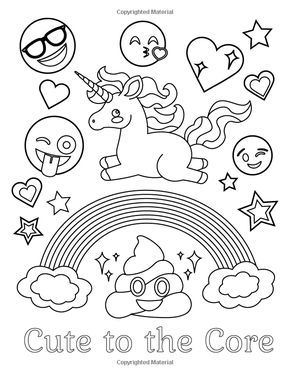 Amazon Com Emoji Coloring Book Of Funny Stuff Cute Faces And Inspirational Quotes 30 Awesome Designs Emoji Coloring Pages Coloring Books Cute Coloring Pages