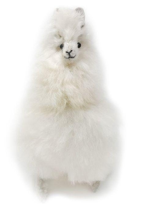 b7ff26235 Standing Baby Alpaca Fur Alpaca Yearling Figure White 7 Inch   Click ...