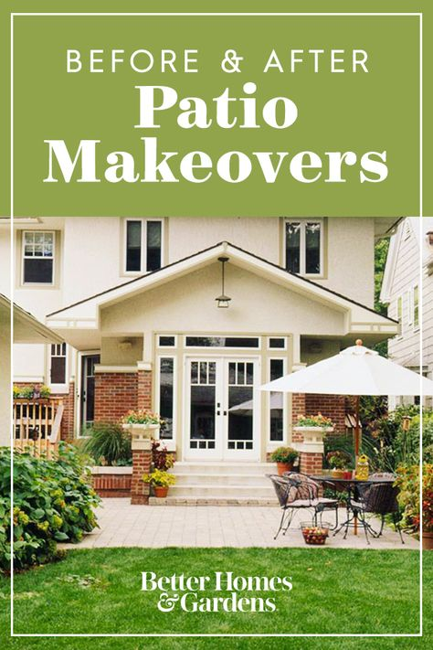 Patio Ideas Before After