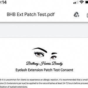 Eyelash Extensions Lash Business Custom Add Your Logo Consent