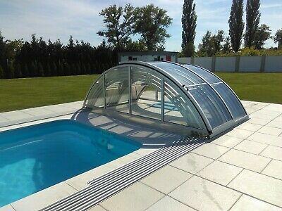 GFK Schwimmbecken XL 10,3x3,7x1,5 SET mit Überdachung ECO CLASSIC FERTIG ANGEBOT