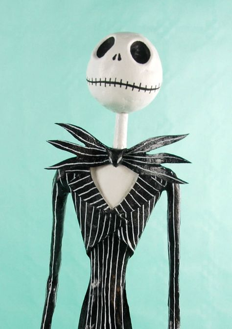 Jack Skellington, The nightmare before Christmas, figure,paper mache,skeleton,hand made,Halloween,skull,doll, Day of the Dead de Retrocrix en Etsy