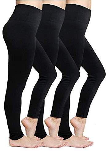 Women/'s Fleece Lined Leggings Thermal High Waist Tummy Control Warm Yoga Pants