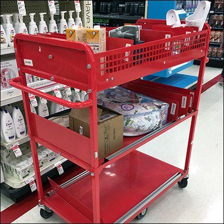 Target Utility Cart Restocking Duty Fixtures Close Up Utility Cart Cart Utilities