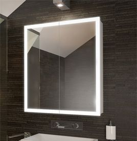 Bathroom Cabinet Lighting Funky Lighted Edge Illuminated Mirrors