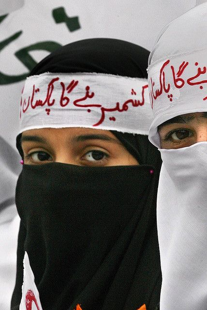PAKISTAN KASHMIR DAY   Pakistani girls demonstrate for human rights of Kashmiris living in Indian held Kashmir, in Rawalpindi, on Monday, 05 January 2007. A lot of Pakistanis would like to see Kashmir as an integral part of Pakistan and find its territory incomplete without the Indian part in the Himalayas. President of Mutahidda Majlis-i-Amal MMA and Jamat-i-Islami JII amir Qazi Hussain Ahmad addressed the crowd. EPA/OLIVIER MATTHYS