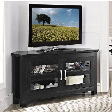 Dunmore 44 Wood Corner Tv Stand Apartment Pinterest Wood