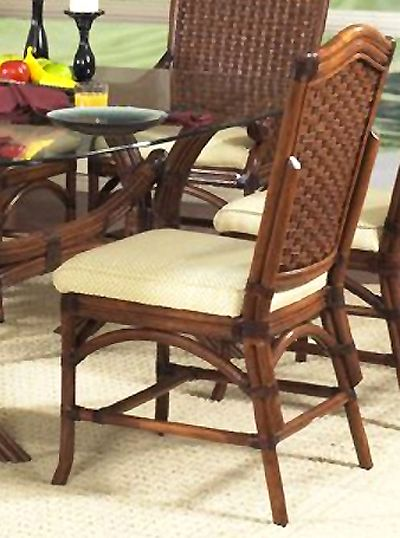 Riviera Rattan Wicker Dining Side Chair From Classic Rattan Model