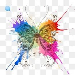 Free Download Butterfly Splash Png Image Iccpic Iccpic Com