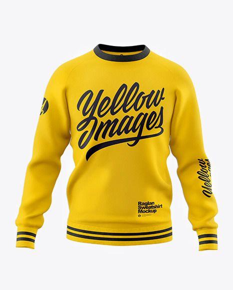 Download Men S Raglan Sweatshirt Mockup Front View In Apparel Mockups On Yellow Images Object Mockups Raglan Sweatshirts Sweatshirts Clothing Mockup