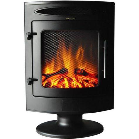 Cambridge 19 7 In W Black Fan Forced Electric Fireplace Lowes Com Electric Fireplace Heater Freestanding Fireplace Electric Fireplace