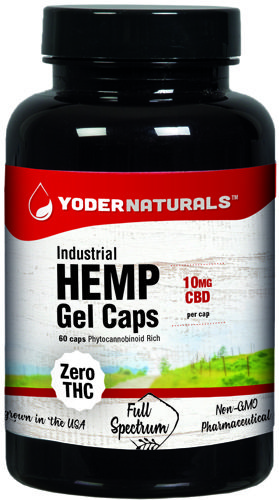 Details about Hemp Extract Gel Caps 60 by Yoder Naturals