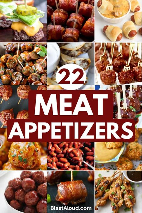 Be the crowd favorite by serving these delicious and easy meat appetizers at your next party! These delicious meat snacks will not disappoint! Sausage Appetizers, Make Ahead Appetizers, Finger Food Appetizers, Holiday Appetizers, Yummy Appetizers, Finger Foods, Appetizer Recipes, Party Appetizers, Tapas