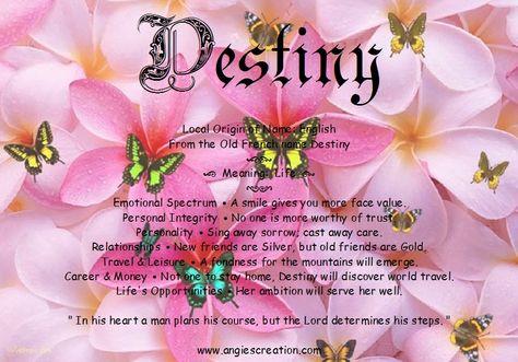 Destiny | Angies Creation