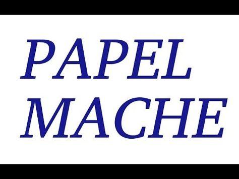 Como hacer papel mache de forma sencilla, esta receta es la que utilizo hace tiempo despues de probar varias, para mi es la mejor receta de papel maché. Te s...