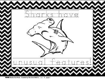 super sharks coloring pages with traceable sentences free