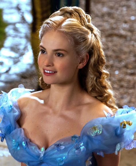 Image result for cinderella 2015 hair