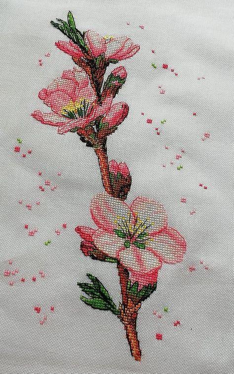 Cherry Blossom Tree Cross Stitch Pattern Pdf Sakura Flowers Plant Cross Stitch Botanical Embroidery In 2020 Cross Stitch Tree Cross Stitch Patterns Stitch Patterns