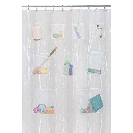 Maytex Quick Dry Mesh Pockets Peva Shower Curtain Or Liner Bath