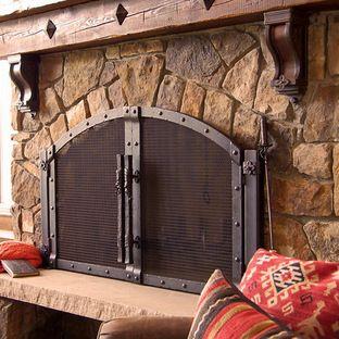 Custom Fireplace Screen Coastal Cottage In 2019