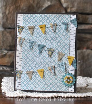 Banner love card by Amy Sheffer for the Card Kitchen Kit Club using the May 2014 kit