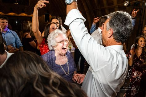 Grandma on the dance floor at Sweeney Todd Barn #charlottesvilleweddingphotographer #weddingreception #weddingplanning #charlottesvillebride #virginiabride