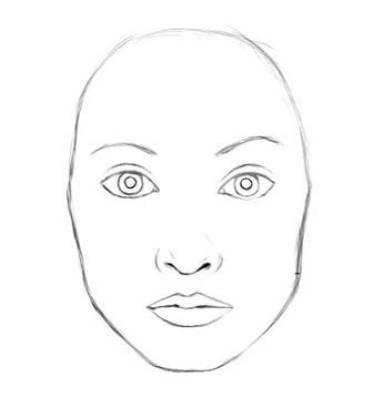 How To Draw A Realistic Face Female Great To Use As A Template Face For Practicing Designs Nose Drawing Simple Face Drawing Face Drawing