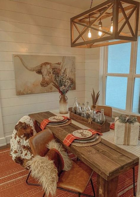Home Decor Trends With A Western Twist - COWGIRL Magazine - Four 2020 home decor trends…Westernized! Western Bedroom Decor, Western Living Rooms, Rustic Western Decor, Western House Decor, Cowboy Home Decor, Western Decorations, Rustic Bedroom Design, Home Decor Trends, Home Decor Inspiration