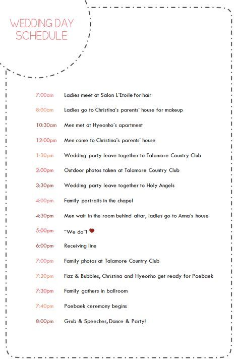 Super Wedding Day Timeline 6pm Brides Ideas Wedding Day Schedule Wedding Day Timeline Wedding Schedule