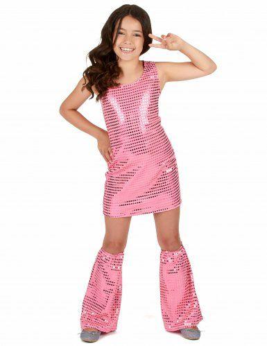 19bc9fa17080 70er Disco-Kostüm für Mädchen mit Pailletten rosa in 2019 | Bad ...