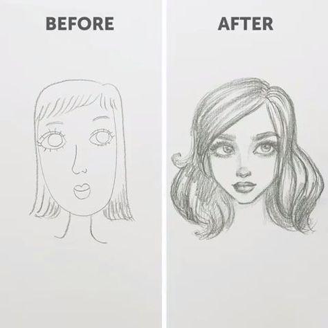 Wie man Gesichter zeichnet (für Anfänger). Zweiter Teil #Women #Fashion