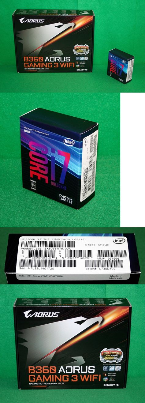Motherboard and CPU Combos 131511: Intel I7-8700K 3 7Ghz Six
