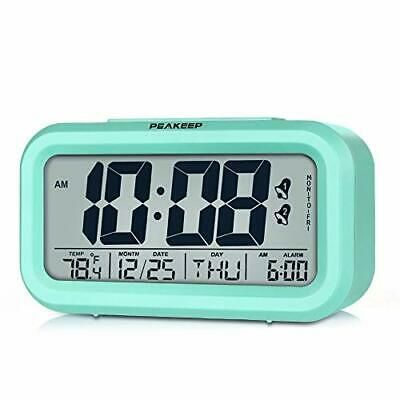 Peakeep Battery Operated Cordless Digital Clock With 2 Dual Alarm Mint Green Fashion Home Garden Homedcor Clocks Eb In 2020 Alarm Clock Clock Digital Alarm Clock