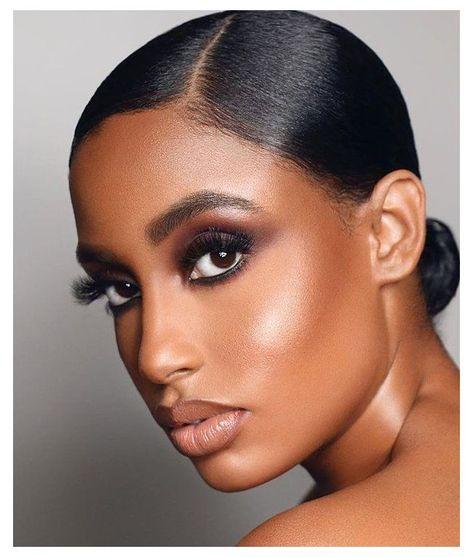 Contour Makeup, Flawless Makeup, Glam Makeup, Eye Makeup, Contouring, Makeup Eyebrows, Daily Makeup, Makeup For Black Skin, Black Girl Makeup