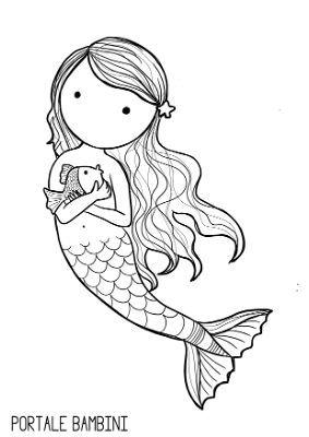 Disegni Di Sirene E Sirenette Da Stampare E Colorare Portale Bambini Arte Dell Illustrazione Schizzi Disegno Rana